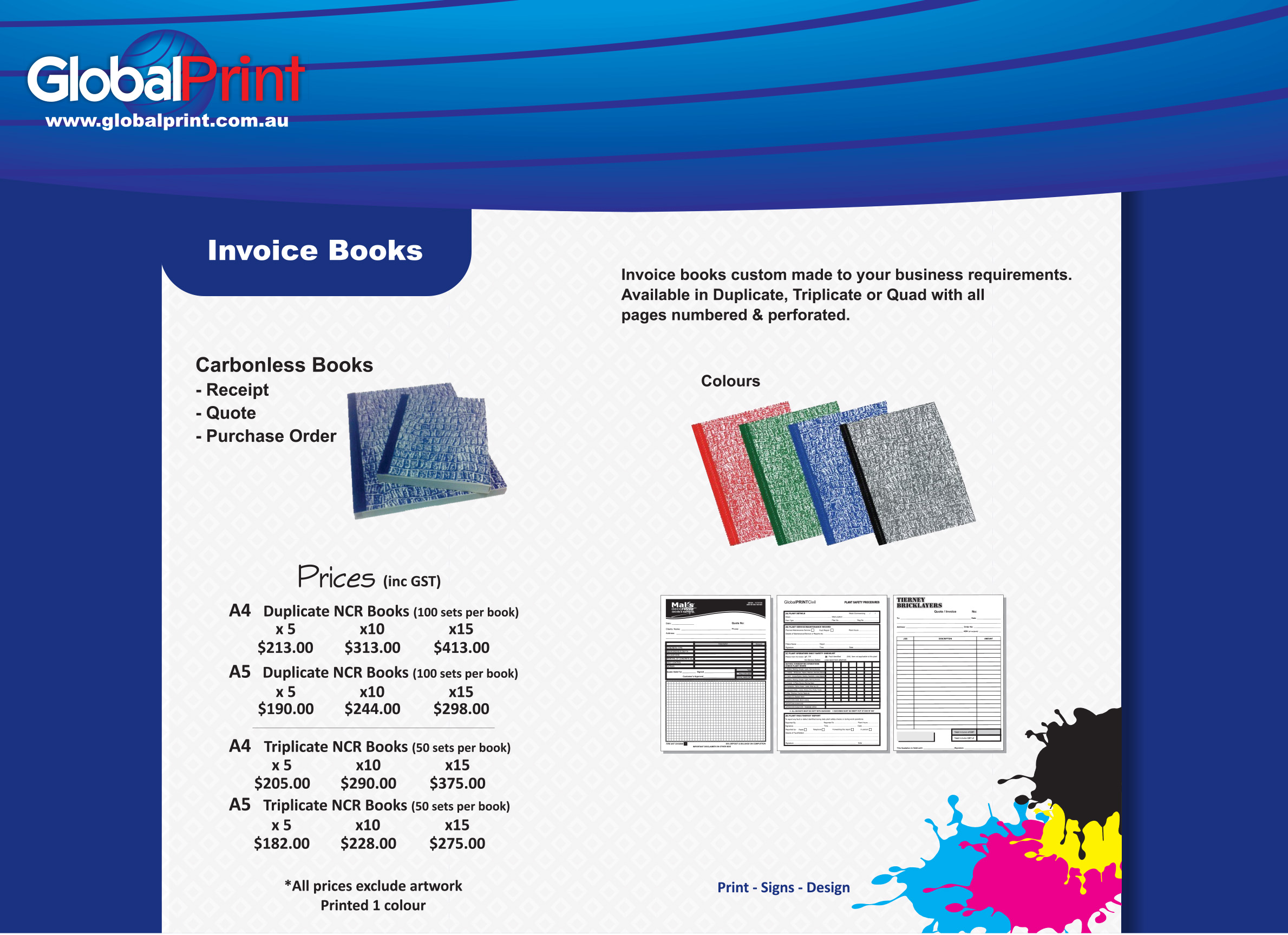 Invoice Books Global Print - Invoice books for business
